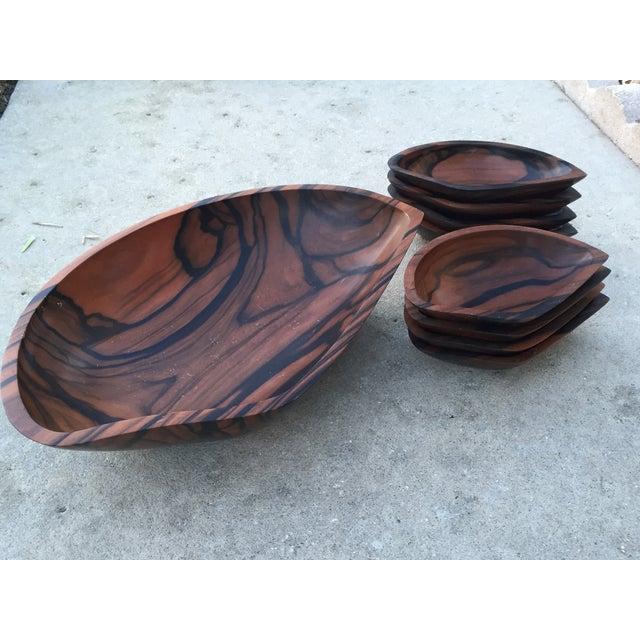 9-Piece Rosewood Salad Bowl Set - Image 11 of 11