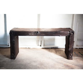 "Japanese Yakisugi Bench Side Coffee Table 36"" Preview"