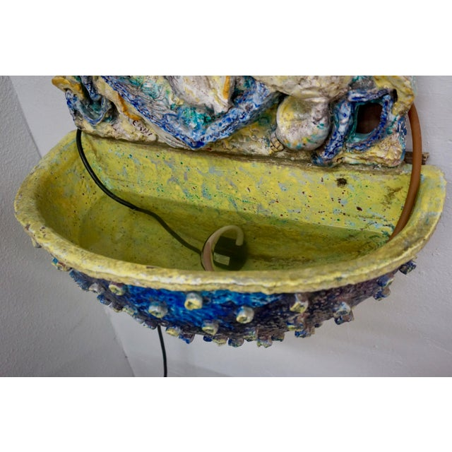 Ceramic Wall Mounted Fountain by Ugo Lucerni For Sale In Palm Springs - Image 6 of 8
