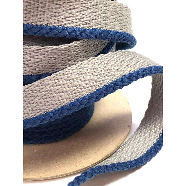 """Cabled 1/8"""" Indoor/Outdoor Blue Cord Trim For Sale In New York - Image 6 of 9"""