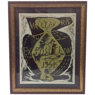 Picasso Vallauris 1954 Exposition Poster For Sale