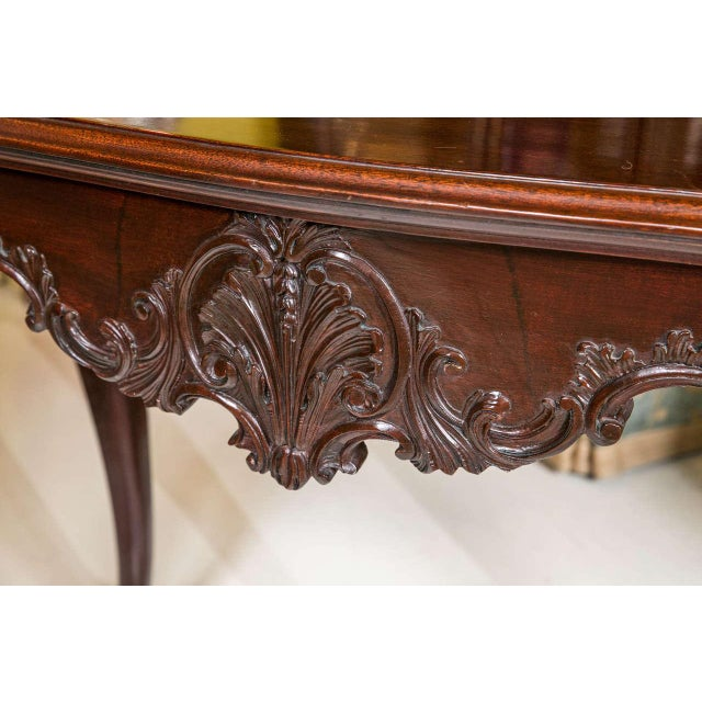 English Georgian Mahogany Console Tables - A Pair For Sale - Image 4 of 10
