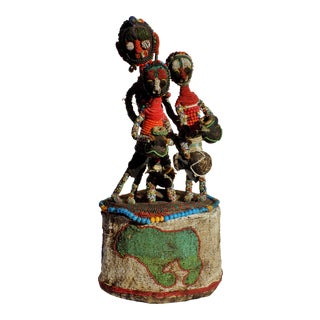 Yoruba Original African Beaded Headdress Crown For Sale