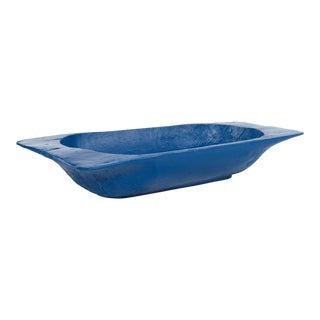 Curated Kravet Magnolia Dough Bowl, Blue For Sale