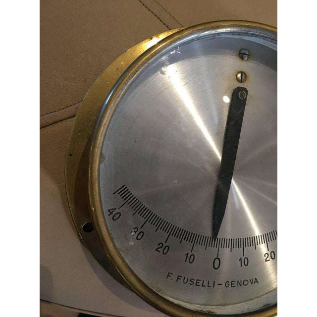 Italian Midcentury Brass Ship's Clinometer For Sale In Nantucket - Image 6 of 7