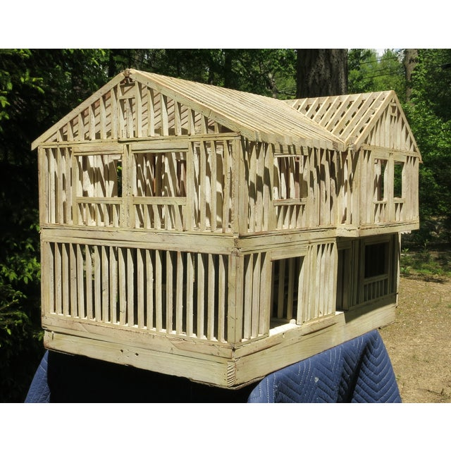 Vintage Architectural Model Wood House For Sale - Image 4 of 11