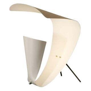 "1953 Michel Buffet ""B 201"" White Table Lamp"
