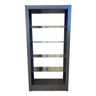 Room & Board Getty Metal + Glass Bookcase Etagere For Sale