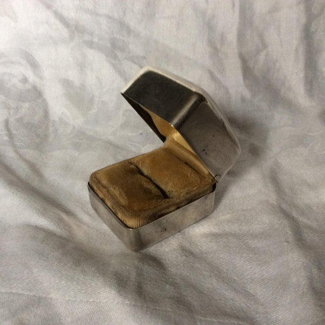 Antique Art Deco Sterling Silver ring box.