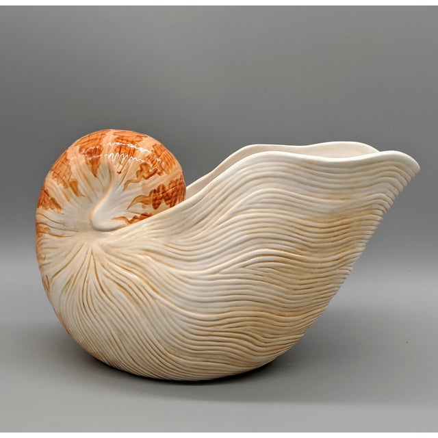 Fitz and Floyd Nautilus Wine Caddy/Planter For Sale - Image 9 of 9