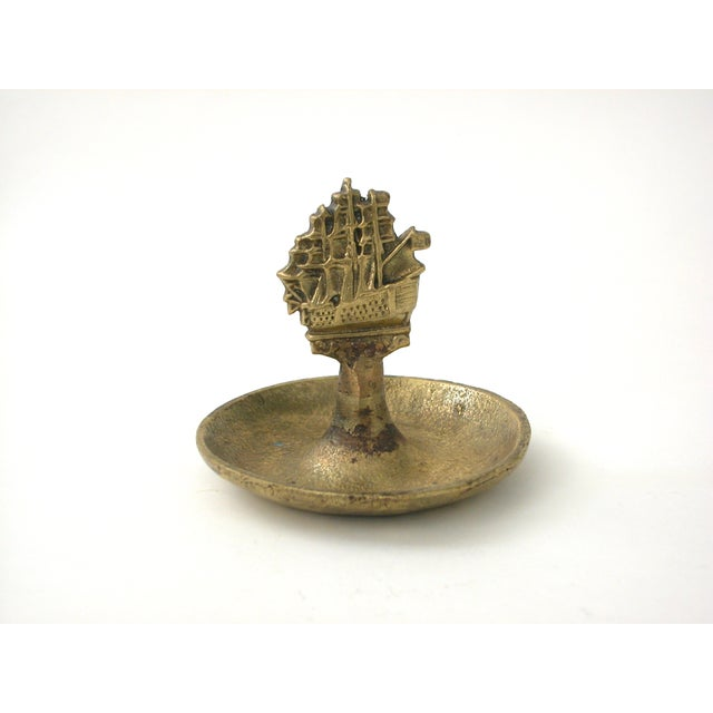 Nautical Brass Ship Dish For Sale - Image 3 of 9
