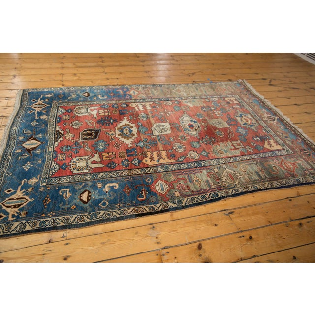 "Boho Chic Vintage Bijar Rug - 4'10"" X 7' For Sale - Image 3 of 13"