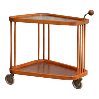 Swedish Art Deco Bar Cart by Axel Larsson for Bodafors For Sale