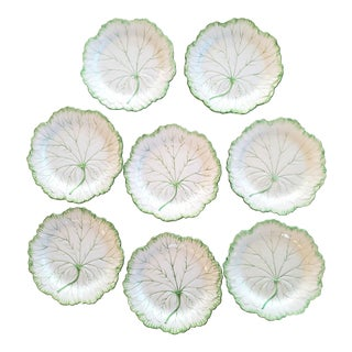 Ca. 1942 Wedgewood English Leaf Salad Plates, Set of 8 For Sale