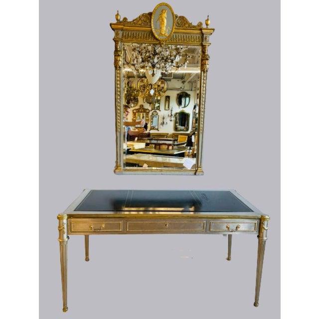 Bronze John Vesey Mid-Century Modern Desk or Bureau Plat. Steel and Bronze For Sale - Image 8 of 12