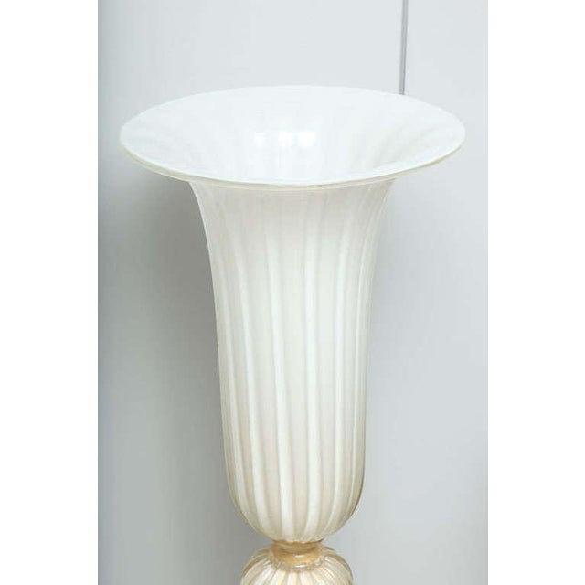 Murano Glass Floor Vases - A Pair For Sale - Image 4 of 10