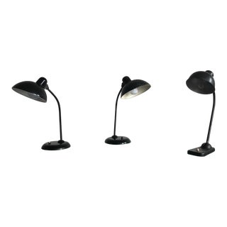 Set of 3 Original Kaiser Idell Table Lamps For Sale