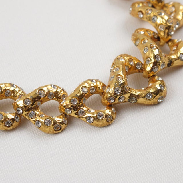 1980s French Designer Alexis Lahellec Paris Signed Jeweled Choker Necklace For Sale - Image 5 of 8