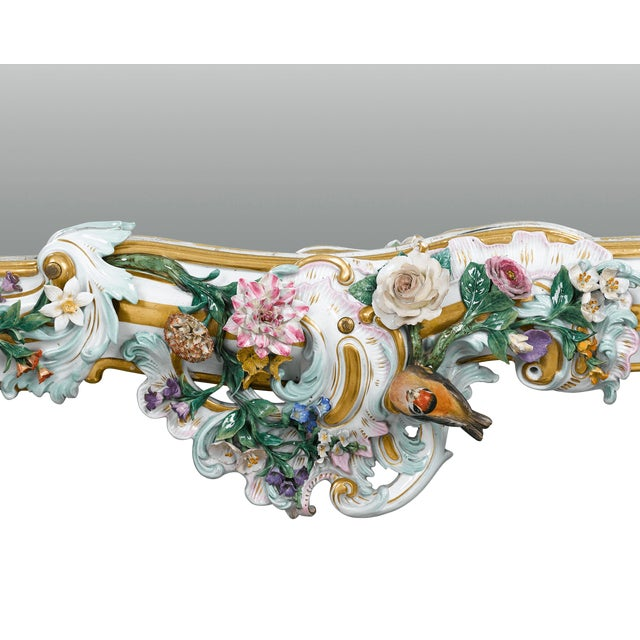 MEISSEN PORCELAIN ROCOCO MIRROR For Sale In New Orleans - Image 6 of 10