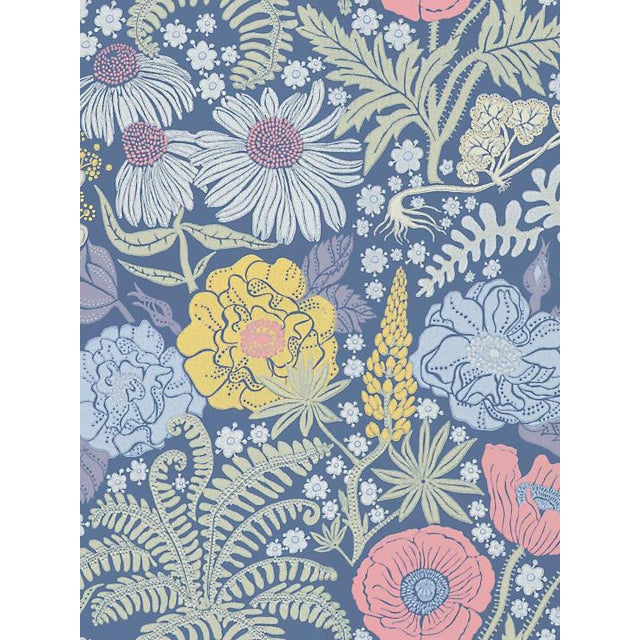 Scalamandre Lisa, Dark Blue Wallpaper For Sale