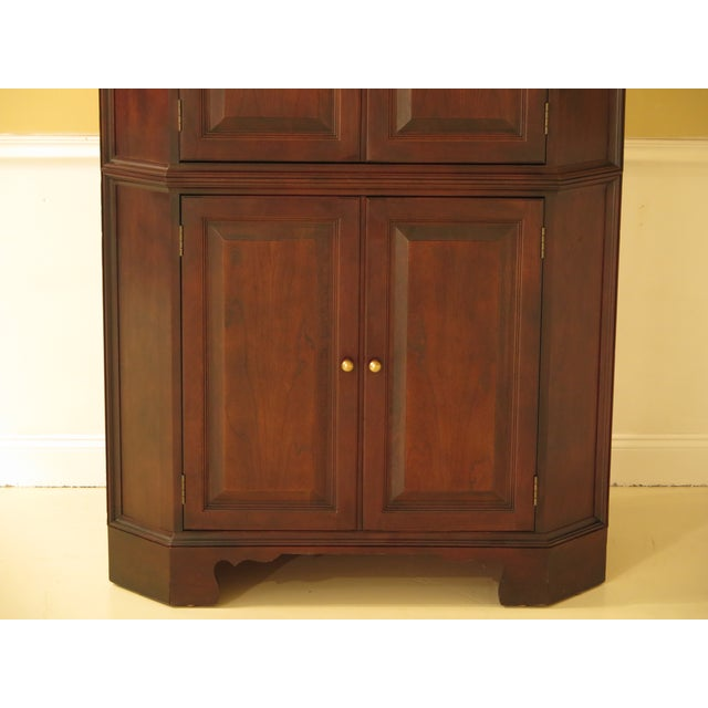 Raised Panel Door Solid Cherry Tv Corner Cabinet For Sale - Image 11 of 13