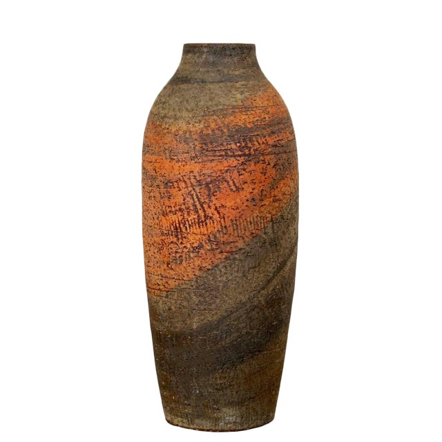 Mid 20th Century Large Marcello Fantoni Vase For Sale