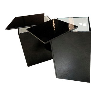 GlasItalia Slide Nesting Tables - Set of 2 For Sale