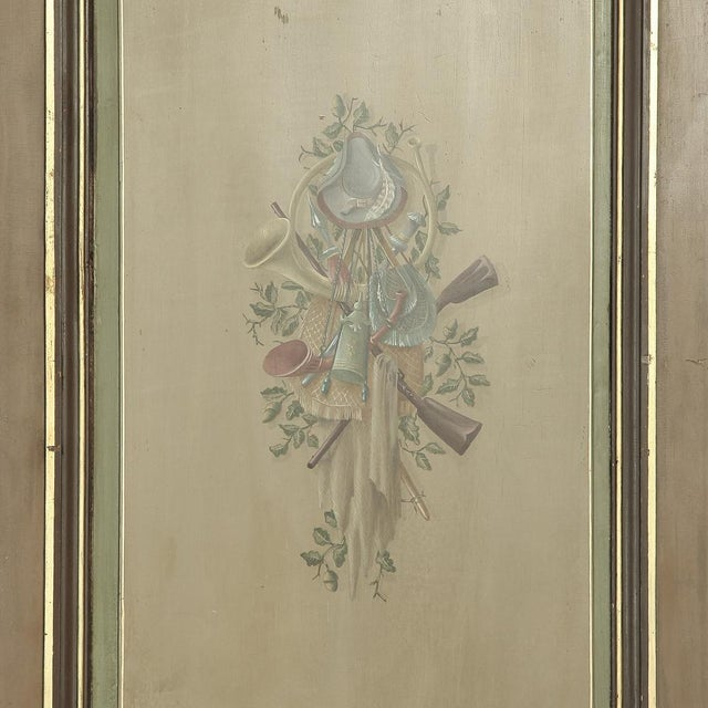 Pair 19th Century French Hand Painted Paneled Interior Doors For Sale In Dallas - Image 6 of 13