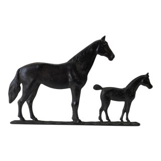 1960s Country Mare & Foal Horse Statue For Sale