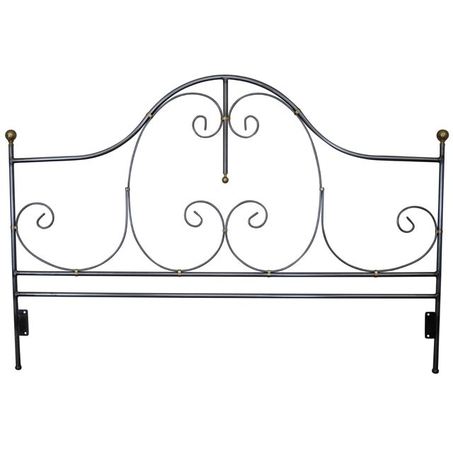 Charleston Forge Iron King Size Headboard For Sale