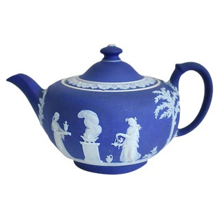 Antique Wedgwood Jasperware Teapot For Sale
