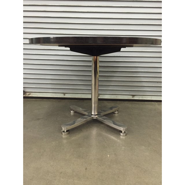 Brueton Custom Stainless Steel & Granite Table For Sale - Image 4 of 6