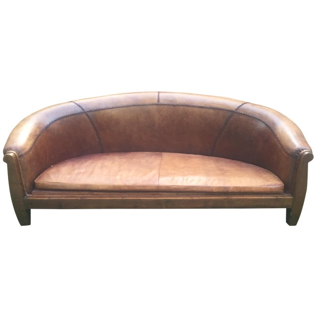 South Asian Leather Sofa - Image 1 of 3