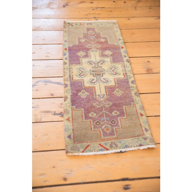 "Islamic Vintage Distressed Oushak Rug Mat Runner - 1'2"" X 3'1"" For Sale - Image 3 of 7"