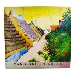 Vintage Van Gogh In Arles Print from Metropolitan Museum of Art 1984 Exhibit