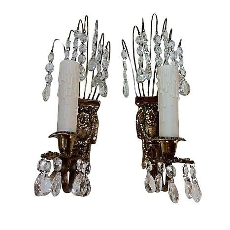 Gustavian Chandelier Sconces - A Pair - Image 1 of 4