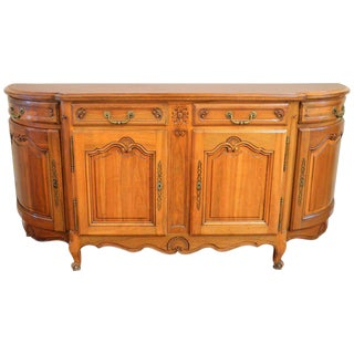 Louis XV Style Solid Cherrywood Sideboard/Buffet Hand-Carved and Storage