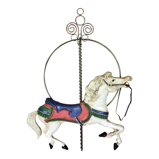 Curtis Jere Carousel Horse Wall Hanging - Image 1 of 7