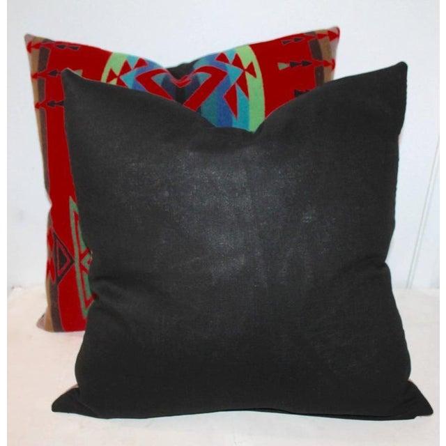 Adirondack Pair of Indian Design Pendleton Camp Blanket Pillows For Sale - Image 3 of 4