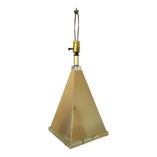 Pyramid Table Lamp With Lucite Base For Sale