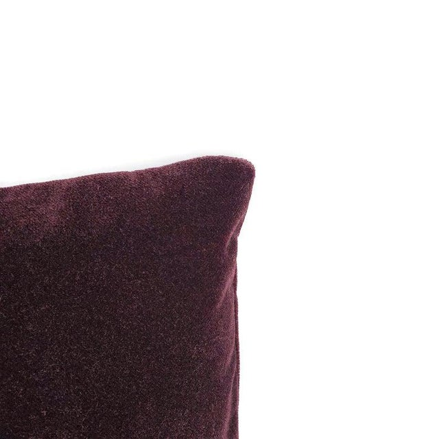 "Transitional Pollack Sedan Plush in Imperial Purple Pillow Cover - 20"" X 20"" Dark Purple Velvet Cushion Case For Sale - Image 3 of 7"