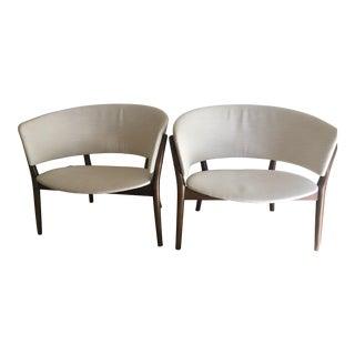 1950s Vintage Danish Modern Nanna Ditzel for Søren Willadsen Lounge Chair- a Pair For Sale