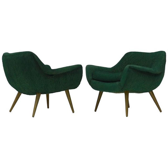 Pair of Sculptural Lounge Chairs by Lawrence Peabody for Selig For Sale - Image 9 of 9
