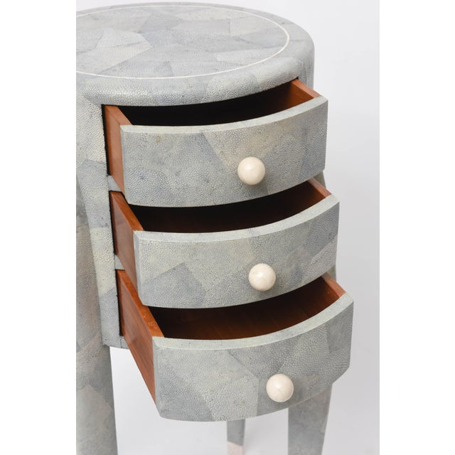 Diminutive Patchwork Shagreen Chest of Drawers by Maitland-Smith For Sale In Miami - Image 6 of 11