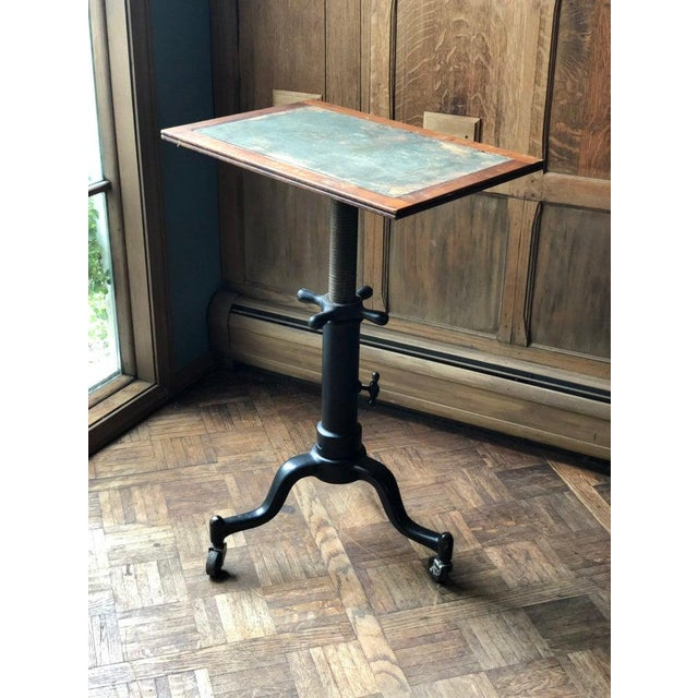 Antique Industrial Adjustable Cast Iron Drafting Table / Desk For Sale - Image 11 of 11