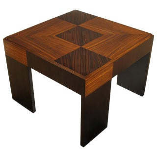 John Widdicomb Natural and Bleached Macassar Ebony and Walnut Coffee Table For Sale