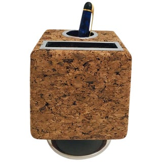 Park Sherman Swivelling Cork Desk Organizer Pen and Mail Holder For Sale