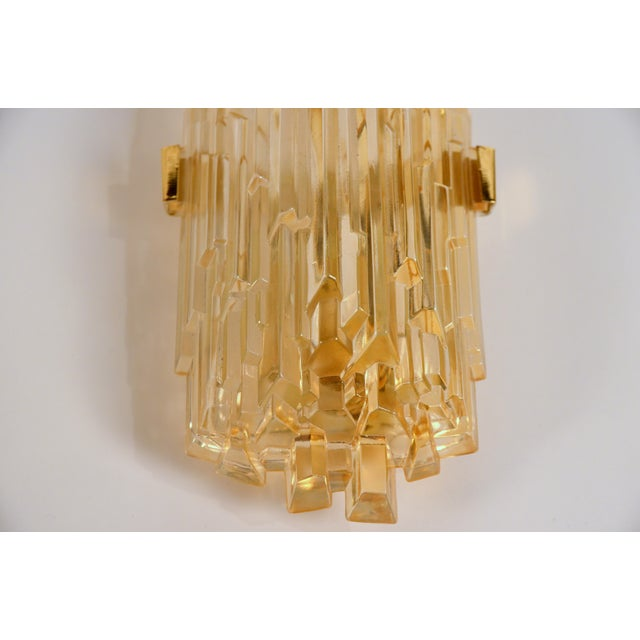 1970s Chic French Brutalist Glass Sconces - a Pair For Sale - Image 4 of 10