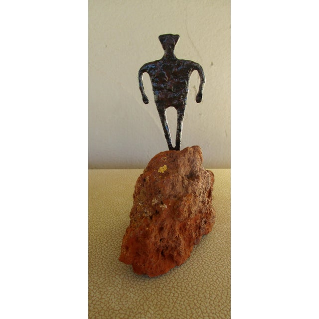 Abstract Modernist Man Sculpture Bill Worrell Style For Sale - Image 9 of 11