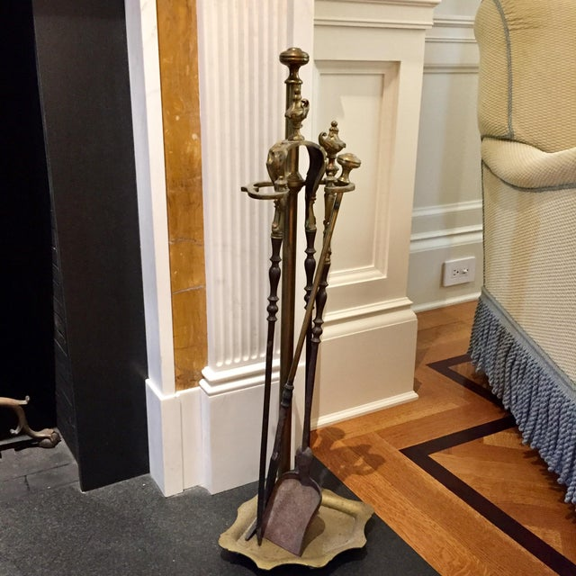 Late 19th Century Antique 19th Century French Fireplace Tools - 4 Pieces For Sale - Image 5 of 7
